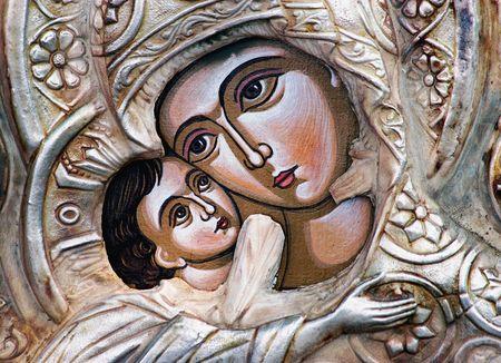 La Virgen y Jesús-Icono --  Foto de archivo - 241674