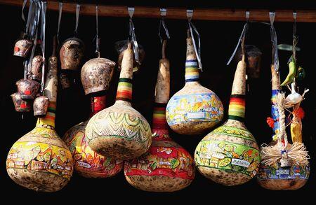 scraped: Painted calabash souvenir