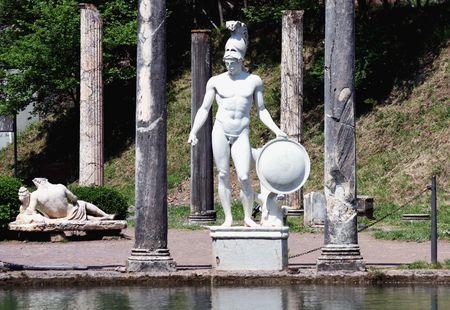 hadrian: Villa Adriana (T�voli, cerca de Roma), 2 � siglo dC por el emperador romano Adriano. Foto de archivo