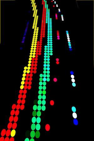 amorphous: Row of dots