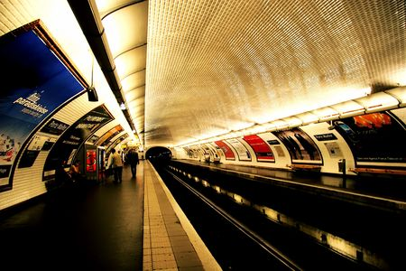blur subway: Metro, Paris