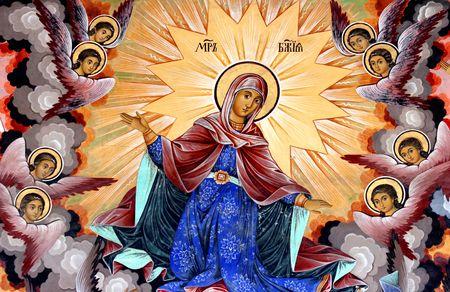 devotion: Ancient painting, Orthodox religion - Bulgaria