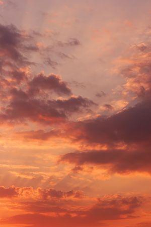 Coucher de soleil de nuages