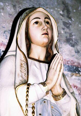fresco: Madonna Stock Photo