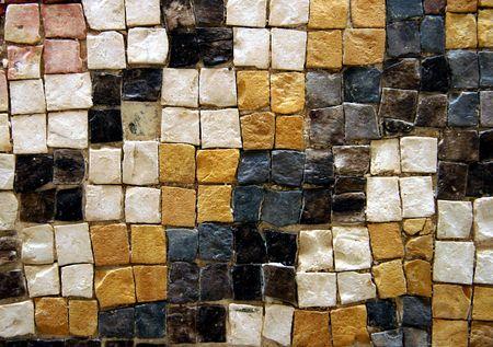 Mosaïque antique schéma - Mount Nebo, Jordanie Banque d'images