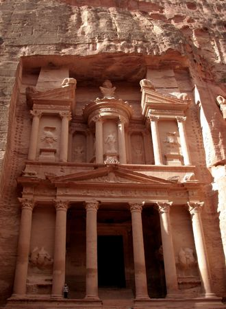 of petra: The Treasury of Petra, Jordan