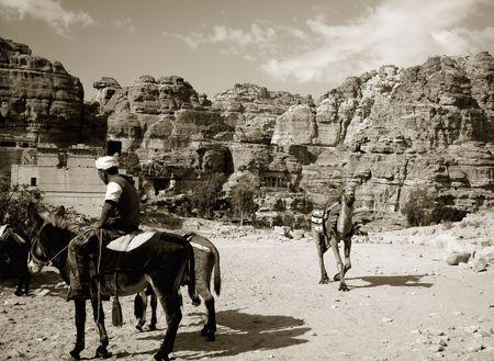 old times: Viajes Jordania, como en los viejos tiempos  Foto de archivo
