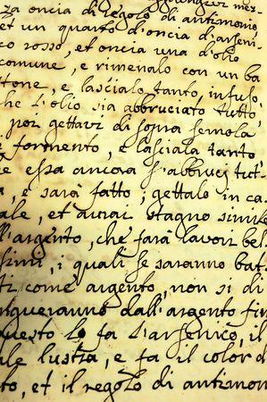 Millésime manuscrite page d'un livre  Banque d'images