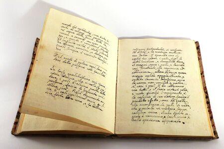Livre manuscrit de cru Banque d'images