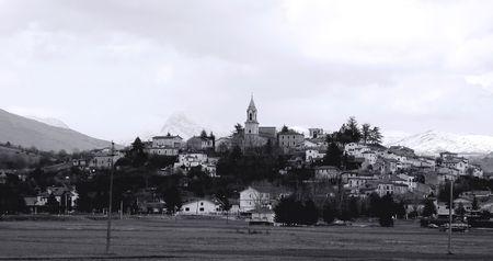 Little Italian town on the hill photo