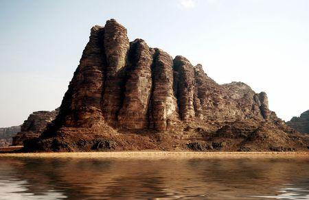 Mountain désert après la pluie  Banque d'images