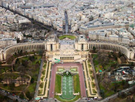 Vue de Paris de la Tour Eiffel, France