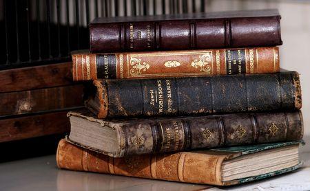 Stack aus alten Büchern