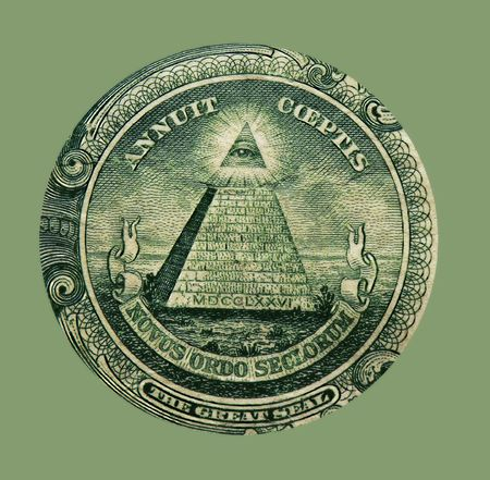 Symbolisme - One Dollar Bill  Banque d'images