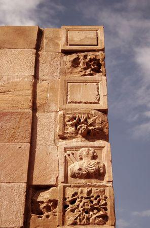 petra  jordan: Ruins in Petra, Jordan