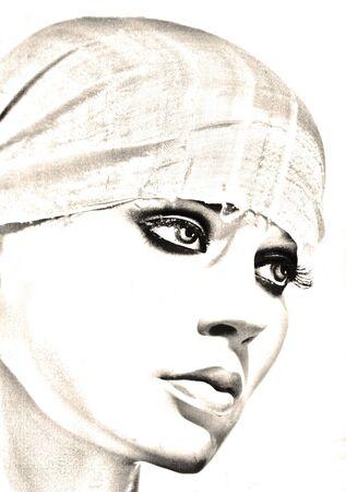 Mannequin  's portrait  Banque d'images