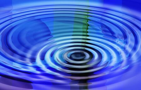 Blue sound waves photo