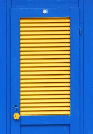 Beach hut door Stock Photo