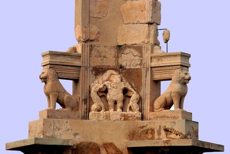 mausoleum: Puno-Hellenistic Mausoleum of Bes - Sabratha, Libya Stock Photo