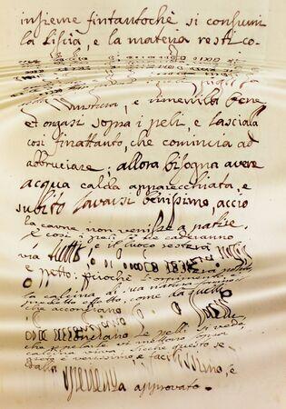 Manuscrite mots perdus dans l'eau