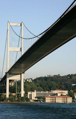 mehmet: Fatih Sultan Mehmet Bridge on the Bosphorus, Istanbul, Turkey Stock Photo