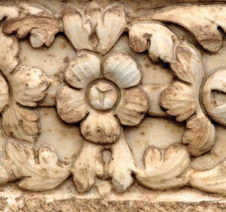 bas: Ancient bas relief, Sabratha, Libya