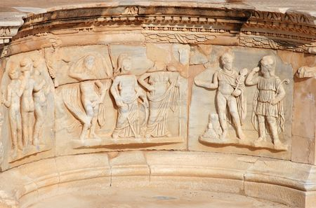 abandonment: Roman theater, the ancient city of Sabratha, Libya