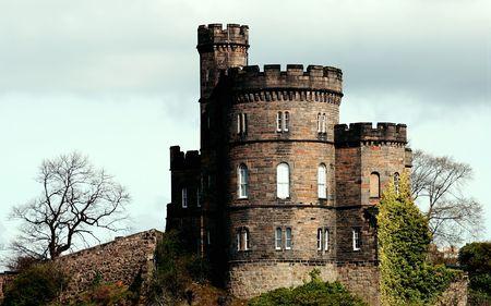 Ancien château, à Édimbourg, en Écosse