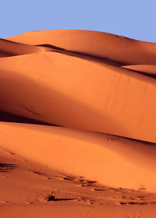 Sand dunes at sunset, Libya photo