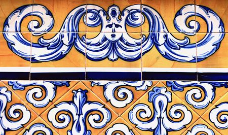 spanish tile: Traditional ancient ceramics. Valencia, Spain