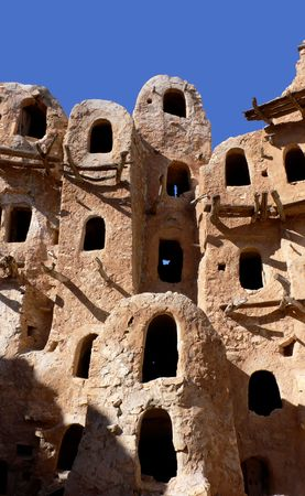 Ancient granary, Kabaw, Libya photo