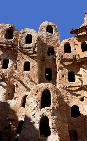 Ancient grenier, Kabaw, de la Libye  Banque d'images