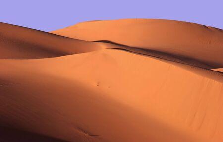 landforms: Sand dunes at sunset, Libya