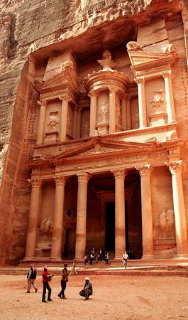 Le monastère de Petra, en Jordanie  Banque d'images