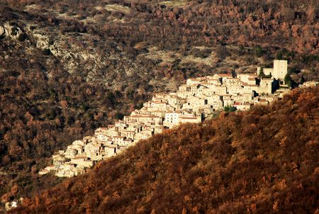 abruzzo: Sleeping down the hill --Pereto, Abruzzo, Italy