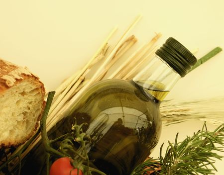 Italian bread and oil photo