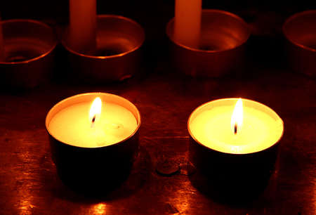 candes: Votive candles in the church Editorial