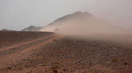 Desert rush hour, Morocco photo