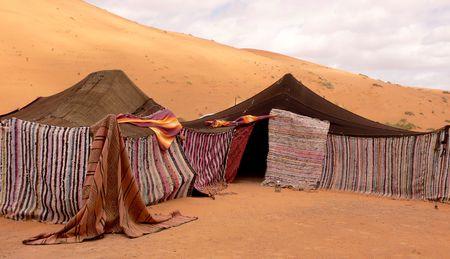 erg: Berber tents, Morocco Stock Photo