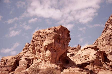 The natural beauties of Petra, Jordan photo