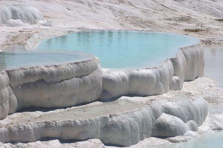 Travertin piscines et terrasses, Pamukkale, Turquie