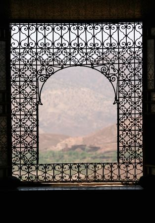 old window: Morocco through the window