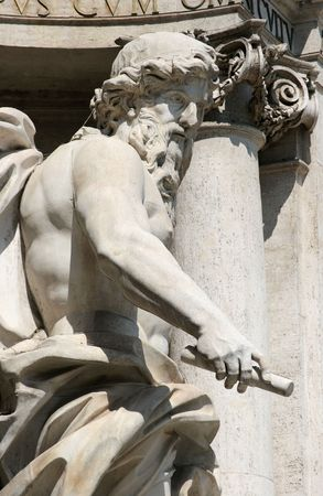 The statue of Neptune or Oceanus, Trevi Fountain, Rome photo
