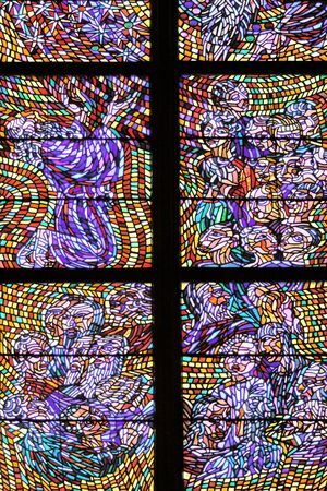 prague castle: Stained glass, Prague, Saint Vitus Cathedral