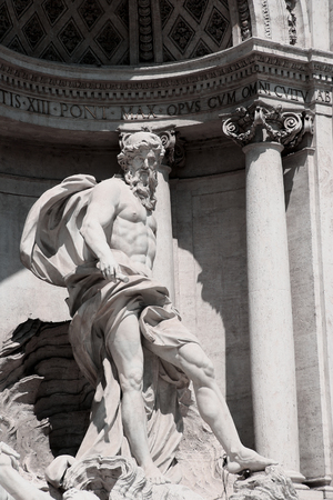 unrivalled: The Neptune of the Trevi fountain, Rome