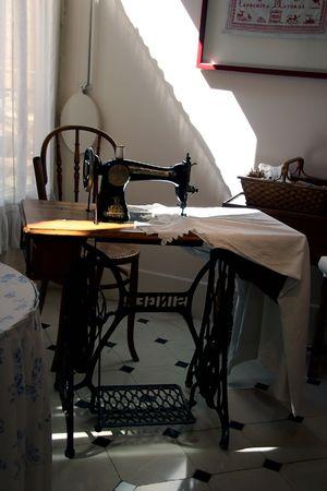 Vintage sewing room - la Pedrera, Barcelona photo