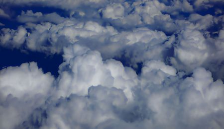 fullness: Soft blue clouds Stock Photo