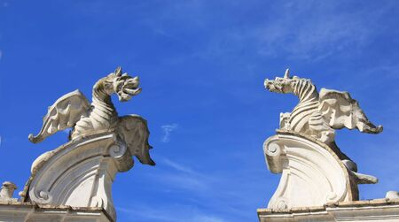 Dragons at the entrance to the sky, Villa Borgese, Rome