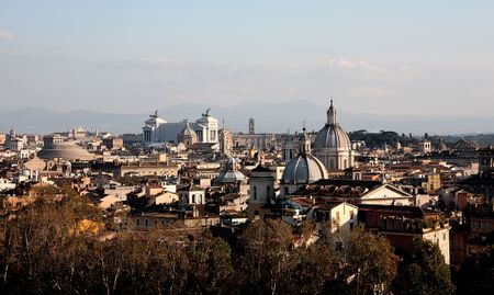angelo: Panoramic view of Rome from Castel Saint Angelo