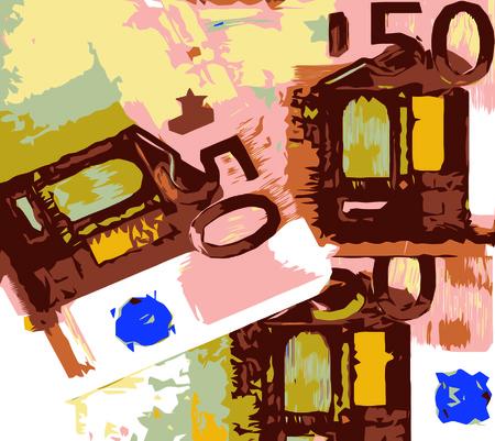vector - 50 euro Ilustrace